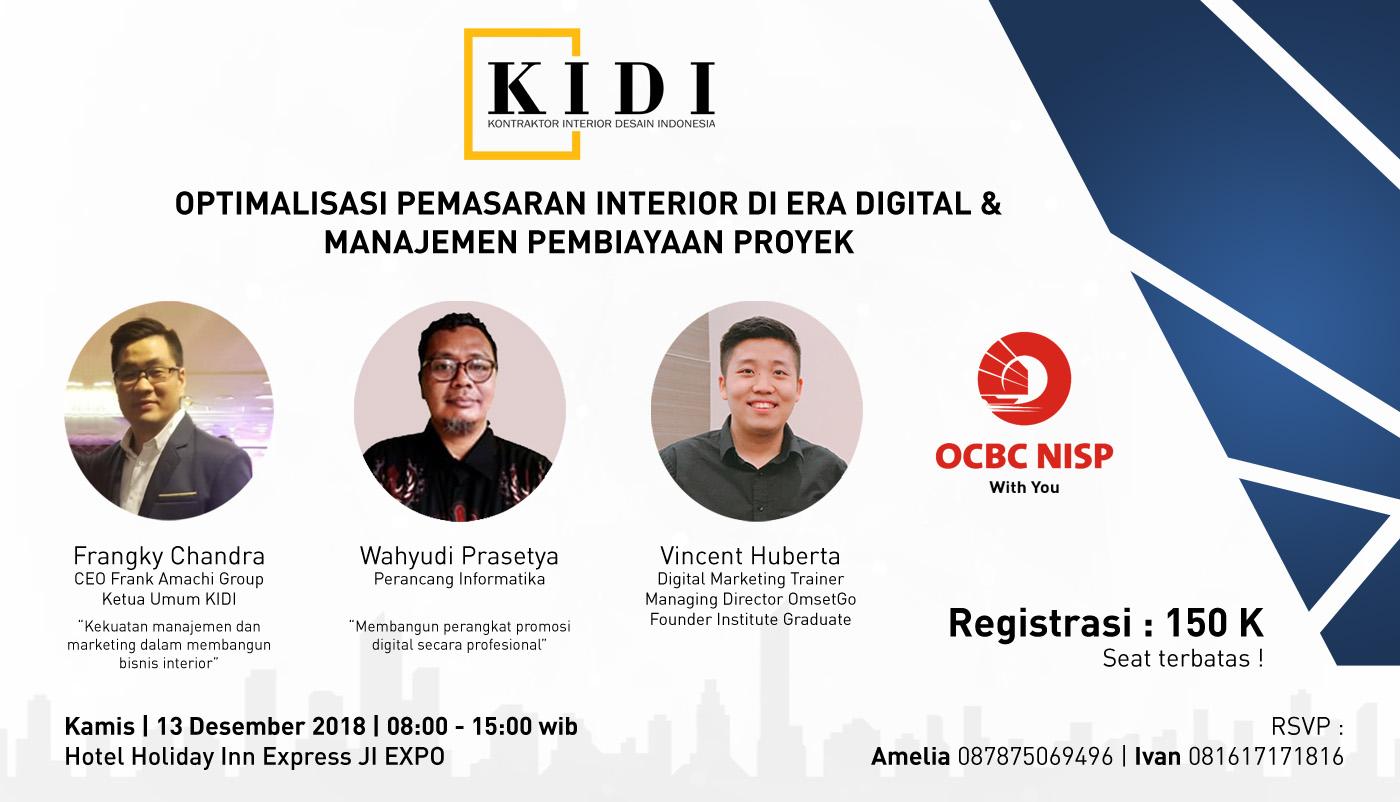 KIDI DKI - seminar digital marketing dan solusi keuangan 2018